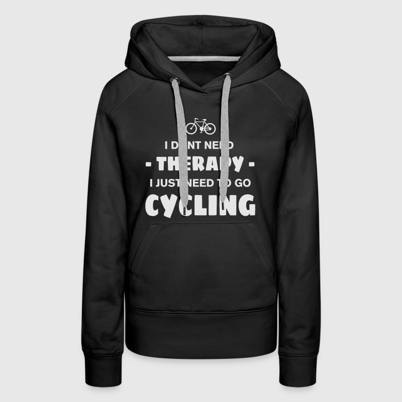 CYCLING THERAPY Hoodies - Women's Premium Hoodie