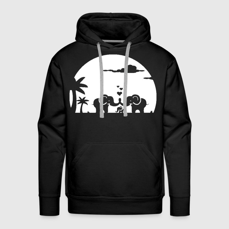 I Love Elephants - Men's Premium Hoodie