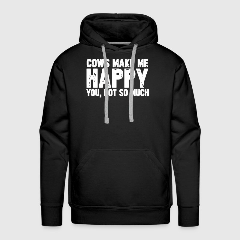 Cows Make Me Happy - Men's Premium Hoodie