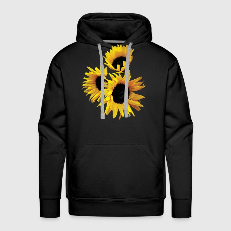 Three Yellow Sunflowers Hoodies - Men's Premium Hoodie
