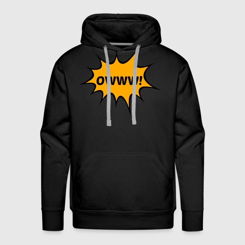 OWWW! Funny Comic Book Action Bubble T-Shirt Hoodies - Men's Premium Hoodie