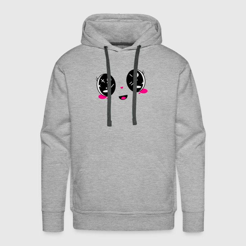 cute Kawaii face Hoodies - Men's Premium Hoodie
