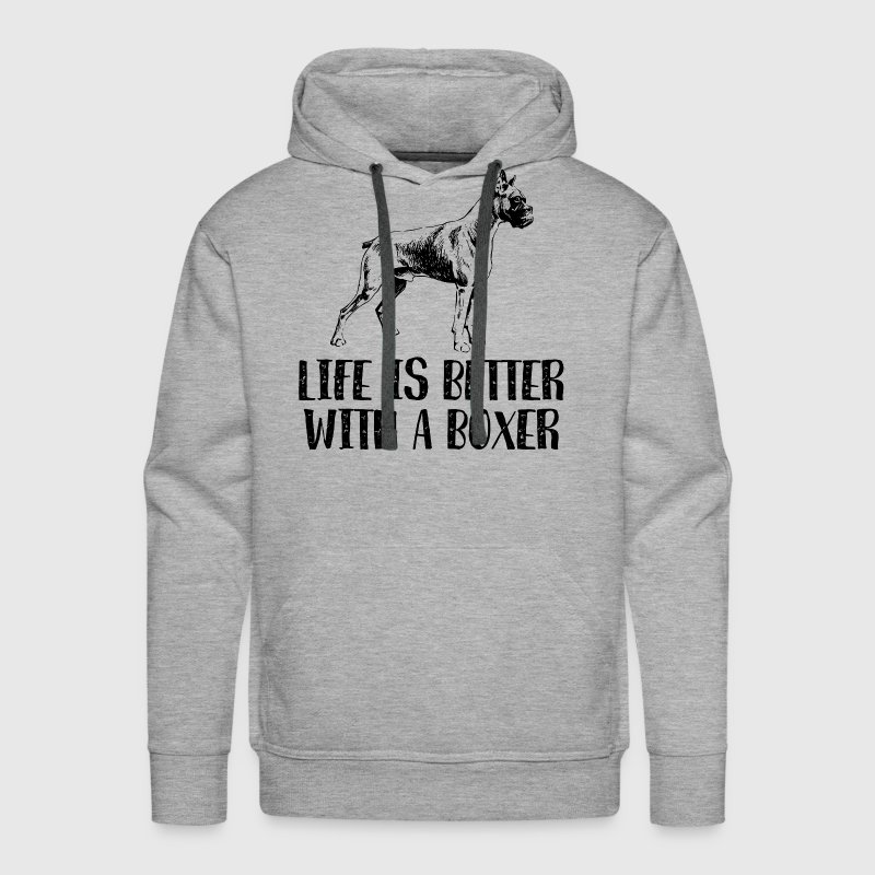 Life Better With A Boxer Hoodies - Men's Premium Hoodie