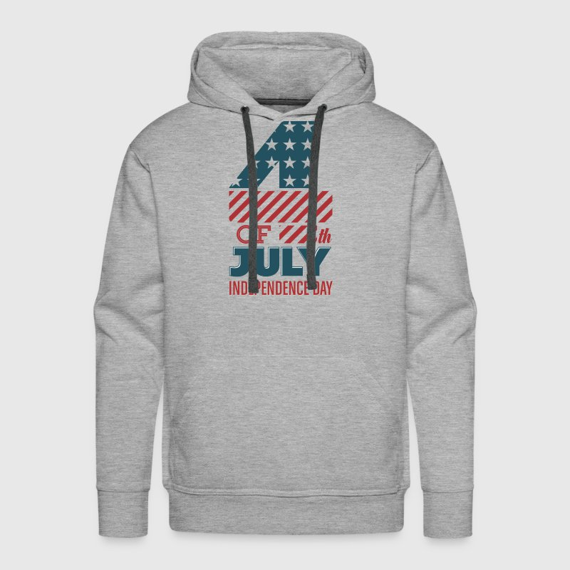 USA - 4th of July - Independence Day - July 4th Hoodies - Men's Premium Hoodie