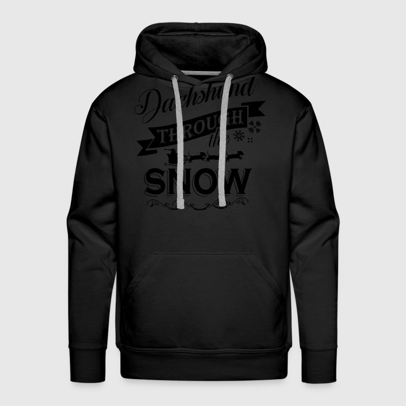 Dachshund through snow Hoodies - Men's Premium Hoodie