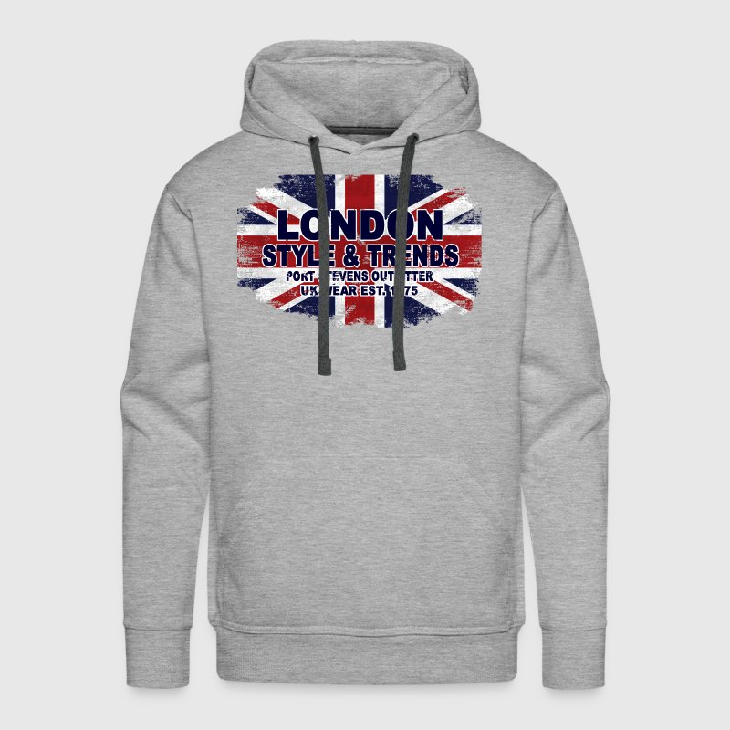 London - Union Jack - UK Flag Hoodies - Men's Premium Hoodie