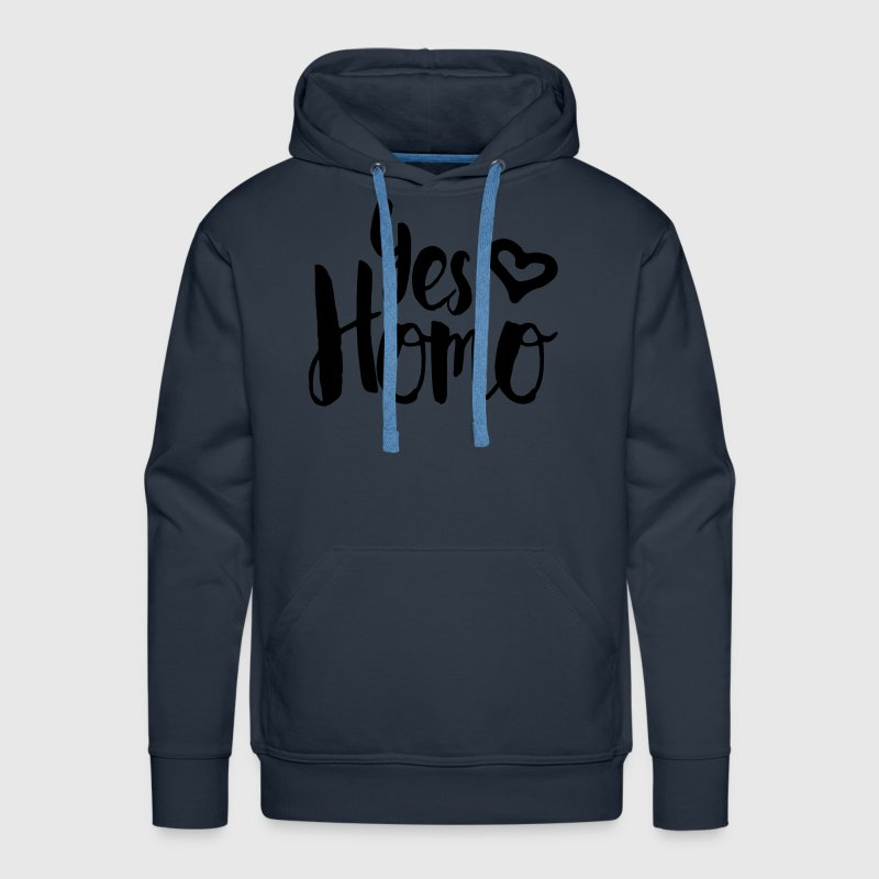 Yes Homo Heart LGBT Hoodies - Men's Premium Hoodie