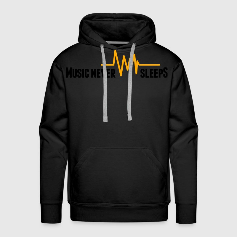 Music never sleeps Hoodies - Men's Premium Hoodie
