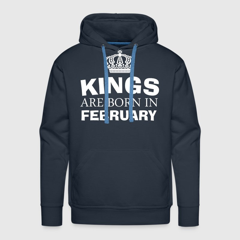 kings are born in february - Men's Premium Hoodie
