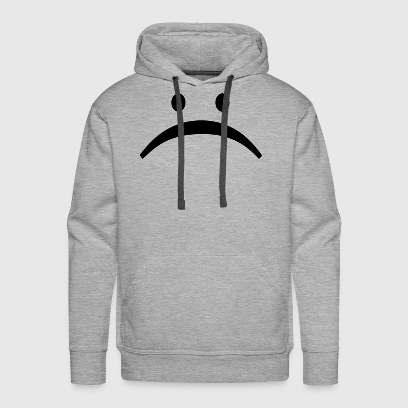 Unhappy Sad Face Smiley Emoticon Hoodies - Men's Premium Hoodie