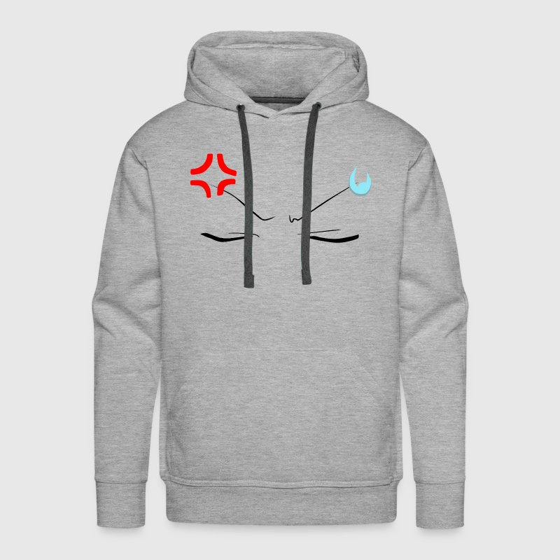 Angry Face Anime - Men's Premium Hoodie