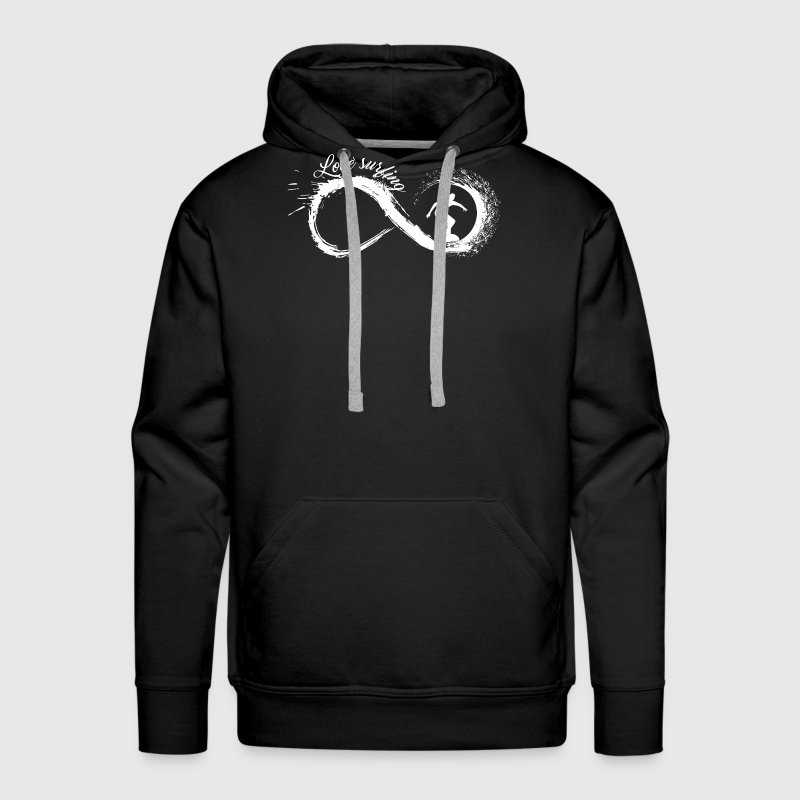 Love Surfing Infinity Shirt - Men's Premium Hoodie