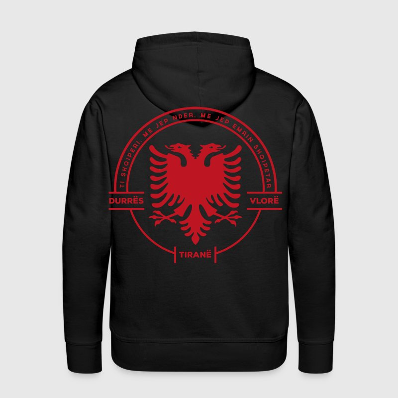 Albanian Cities Badge White - Men's Premium Hoodie