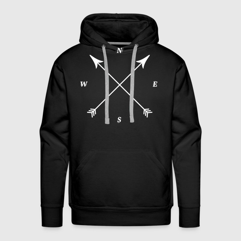Compass Print, North, East, South, West Hoodies - Men's Premium Hoodie