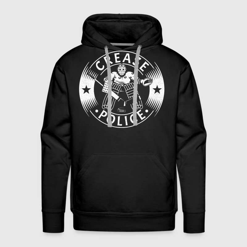 Crease Police (Hockey Goalie) Hoodies - Men's Premium Hoodie