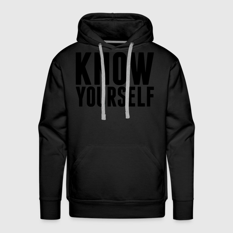 Know Yourself Hoodies - Men's Premium Hoodie