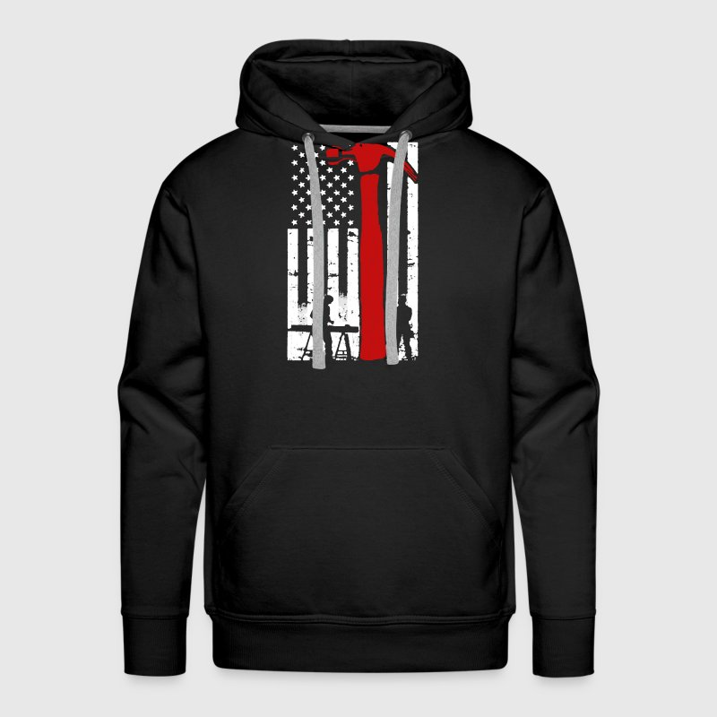 Carpenter Flag Shirt - Men's Premium Hoodie