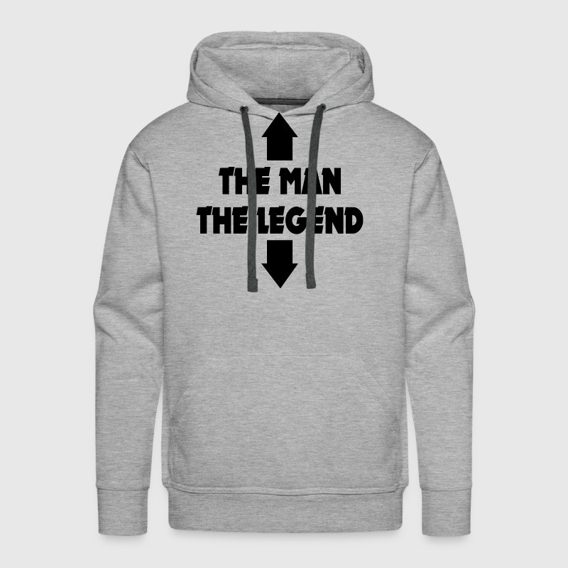 THE MAN THE LEGEND FUNNY ADULT JOKE Hoodies - Men's Premium Hoodie
