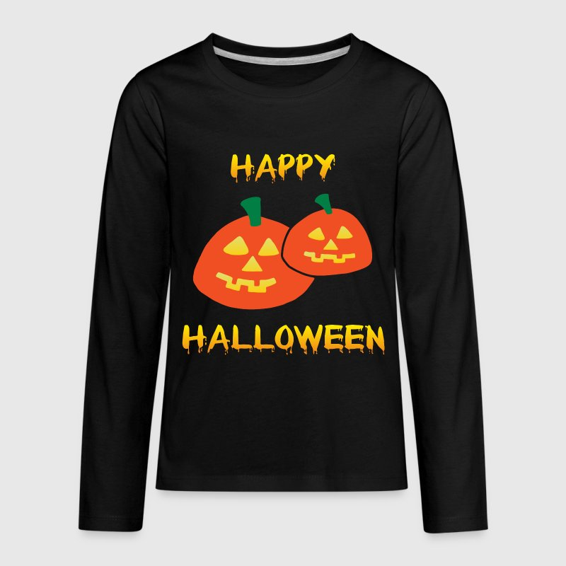 Happy Halloween - Pumpkins Kids' Shirts - Kids' Premium Long Sleeve T-Shirt
