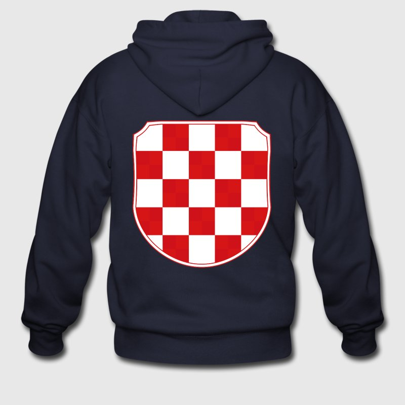 Croatia Hrvatska historic coat of arms Sahovnica  - Men's Zip Hoodie
