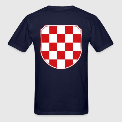 Croatia Hrvatska historic coat of arms Sahovnica  - Men's T-Shirt
