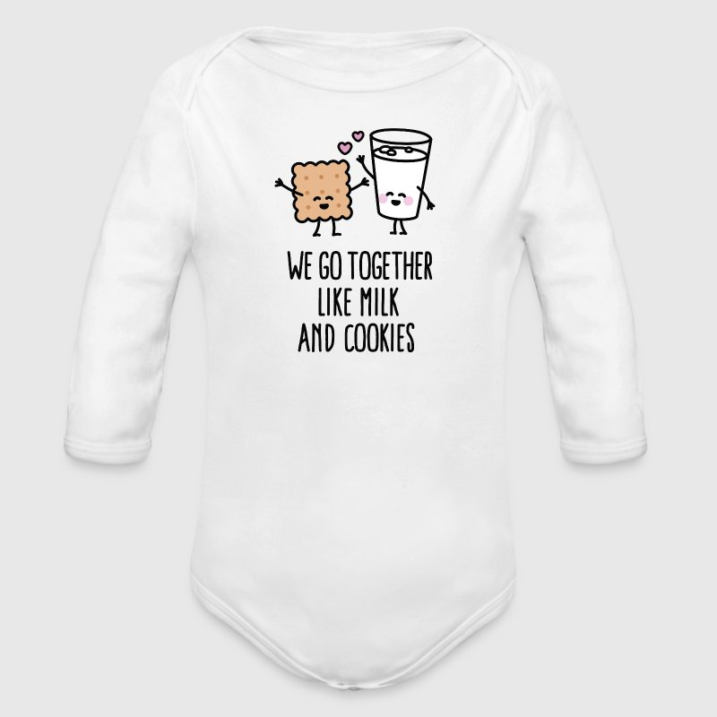 We go together like milk and cookies Baby Bodysuits - Long Sleeve Baby Bodysuit