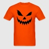 Scary Jack O' Lantern Pumpkin T-shirt - Men's T-Shirt