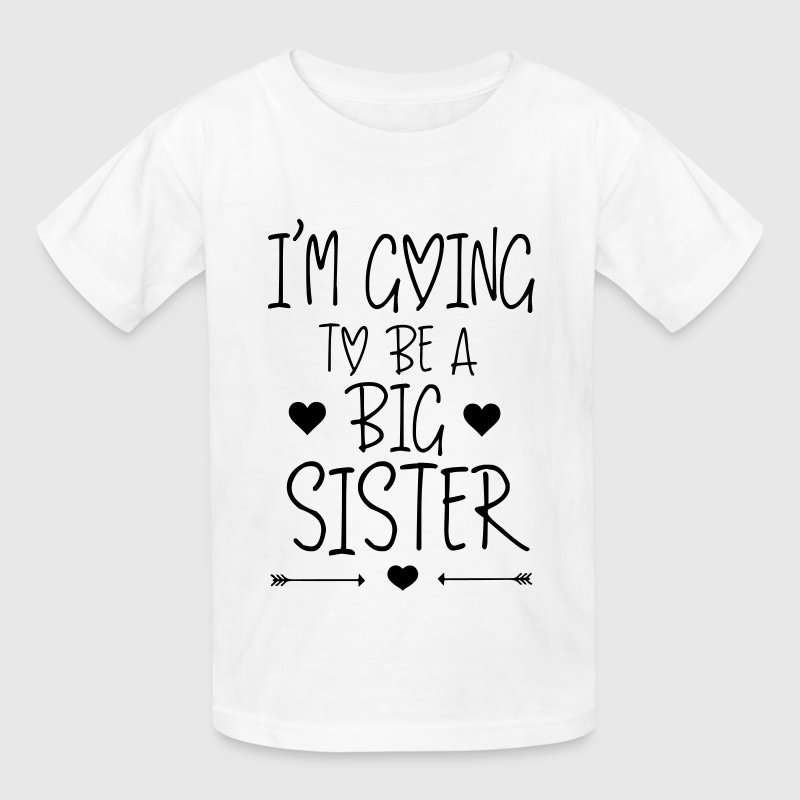 i 39 m going to be a big sister t shirt spreadshirt. Black Bedroom Furniture Sets. Home Design Ideas
