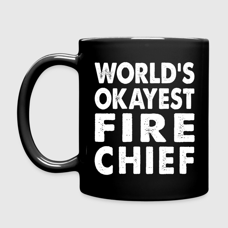 World's Okayest Fire Chief Fireman Firefighter Mugs & Drinkware - Full Color Mug