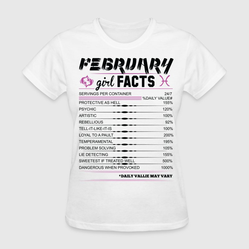 February Girl Facts Pisces T-Shirts - Women's T-Shirt