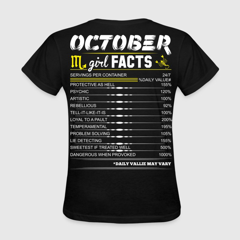 October Girl Facts Scorpio T-Shirts - Women's T-Shirt