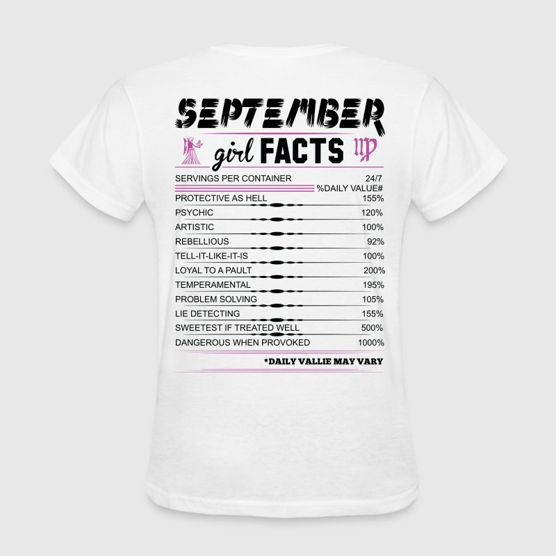 September Girl Facts Virgo T-Shirts - Women's T-Shirt