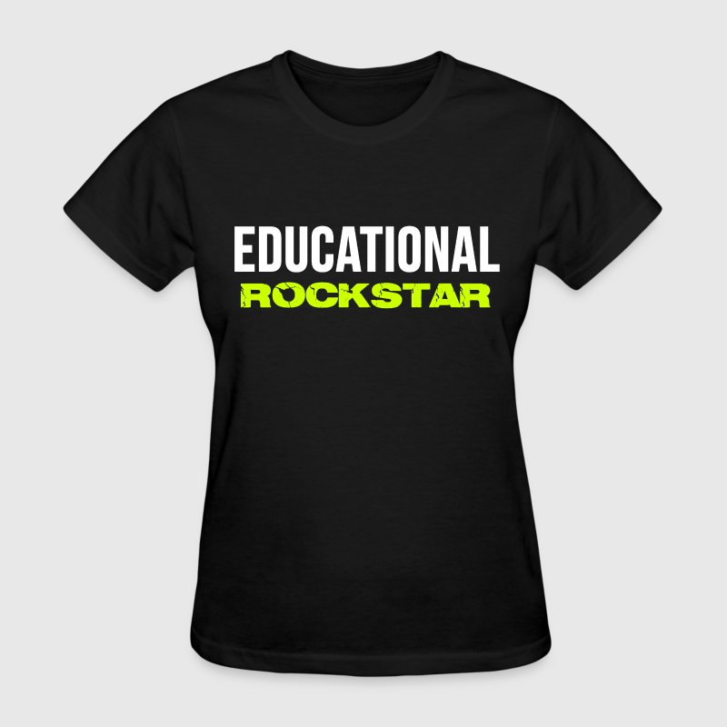 Trendy Casual School Teachers EDUCATIONAL ROCKSTAR T-Shirts - Women's T-Shirt