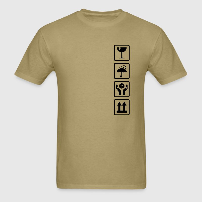 Cardboard box shipping symbols T-Shirts - Men's T-Shirt
