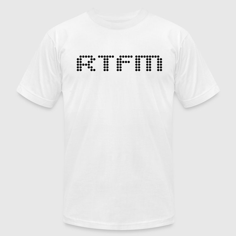 RTFM - Men's T-Shirt by American Apparel