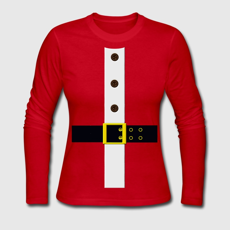 Santa's Coat Long Sleeve Shirts - Women's Long Sleeve Jersey T-Shirt