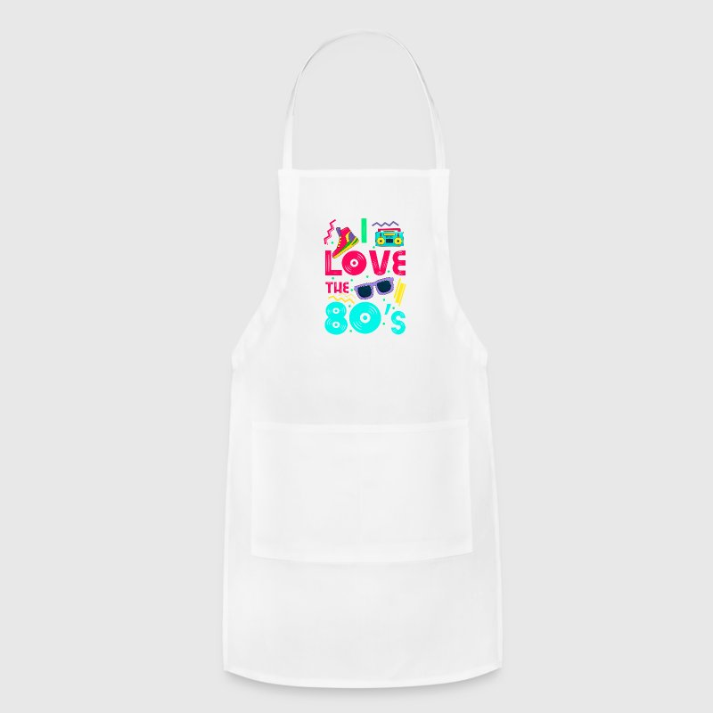 I love the 80s - cool and crazy design Aprons - Adjustable Apron