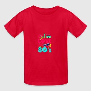 I love the 80s - cool and crazy design Girl\'s Ruffle T-Shirt ...