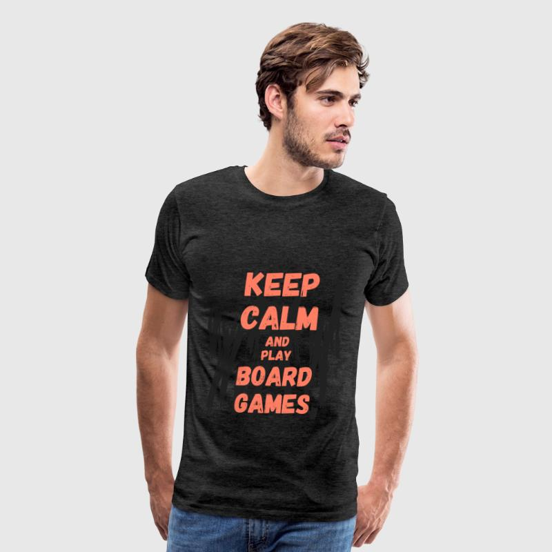 Board Games - Keep calm and play board games - Men's Premium T-Shirt