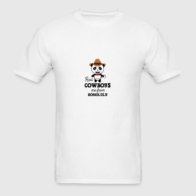 Real Cowboys are from Honolulu Sivpvx Sportswear - Men's T-Shirt