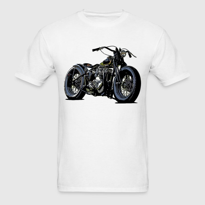 Vintage motorcycle sketch in black - Men's T-Shirt