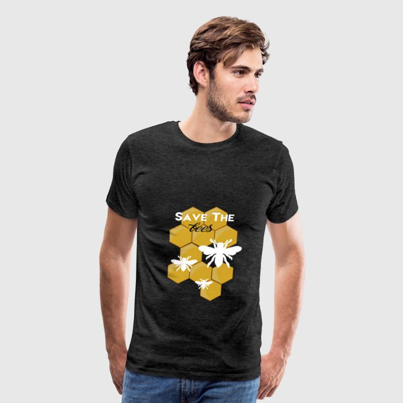Bees - Save the bees. - Men's Premium T-Shirt