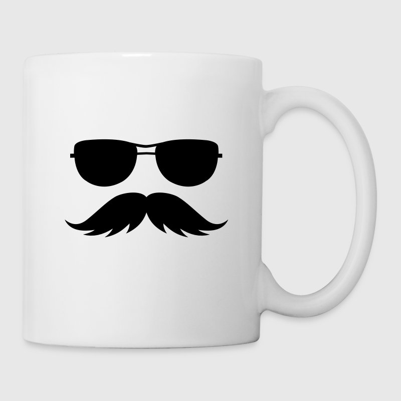 sunglasses and mustache Accessories - Coffee/Tea Mug