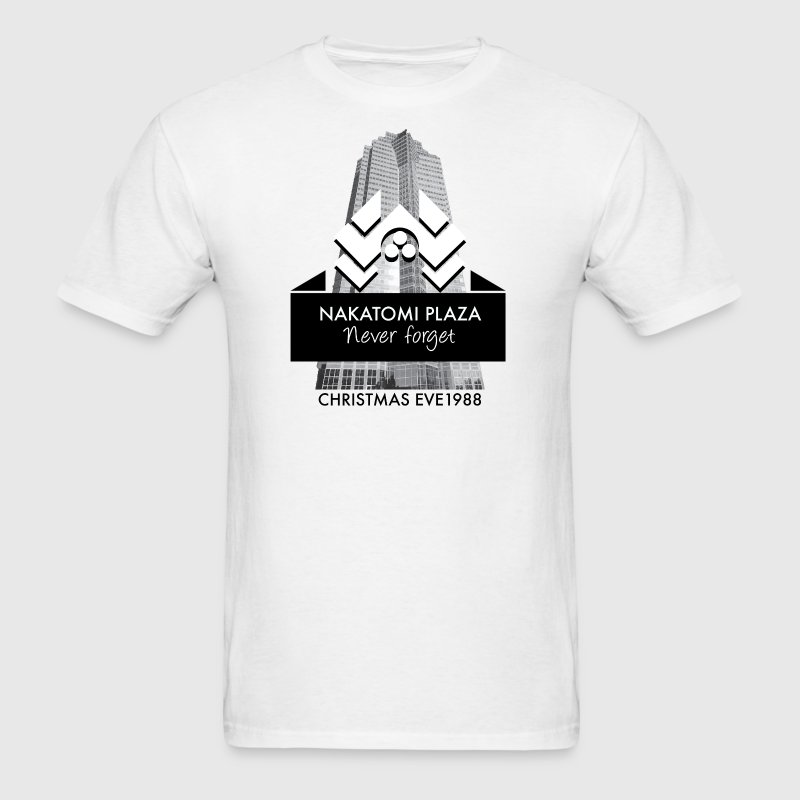 Never Forget Nakatomi Plaza Christmas Eve 1988  T-Shirts - Men's T-Shirt