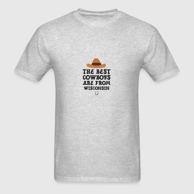 The best Cowboys are from Wisconsin Sportswear - Men's T-Shirt