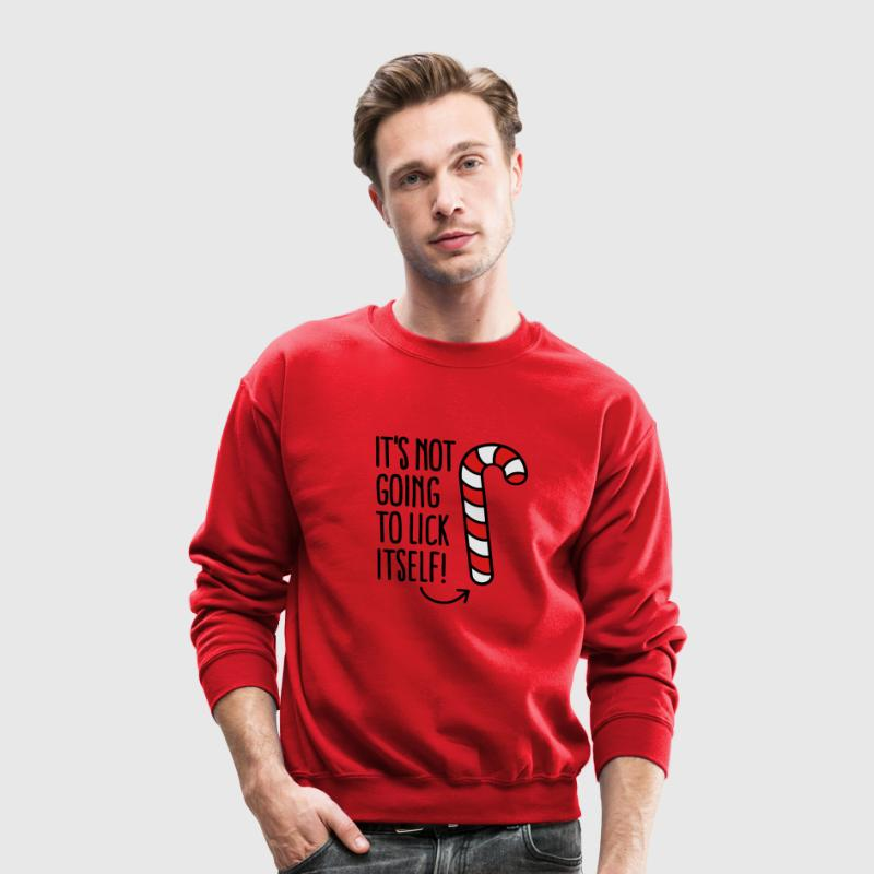It's not going to lick itself (candy cane) Long Sleeve Shirts - Crewneck Sweatshirt