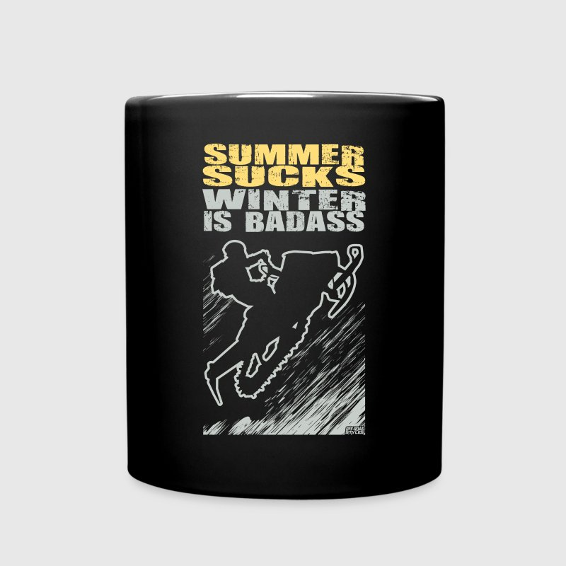 Snowmobile Summer Sucks Mugs & Drinkware - Full Color Mug