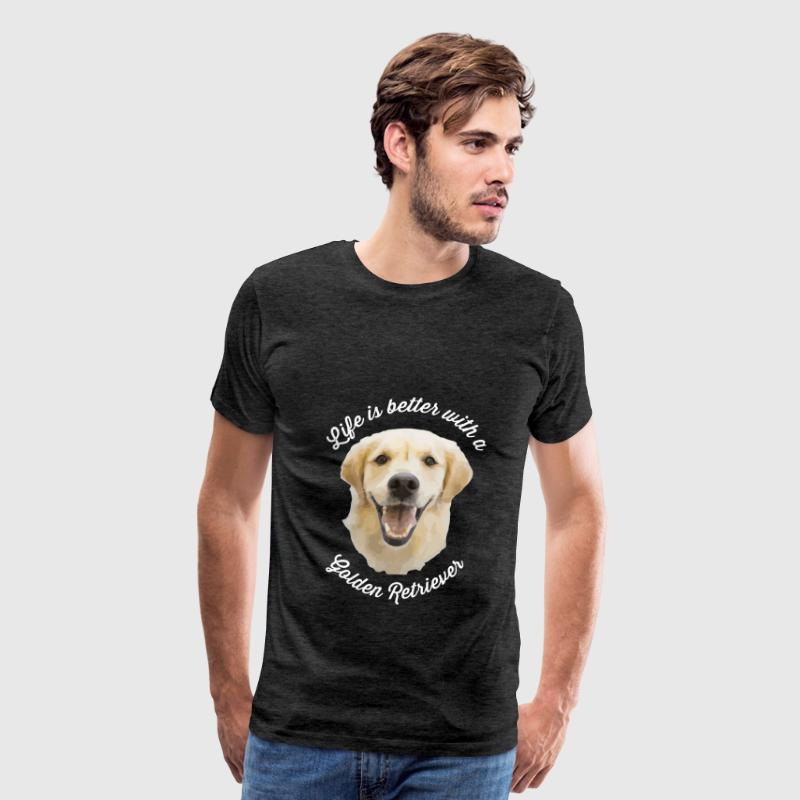 Golden Retriever - Life is better with a Golden Re - Men's Premium T-Shirt