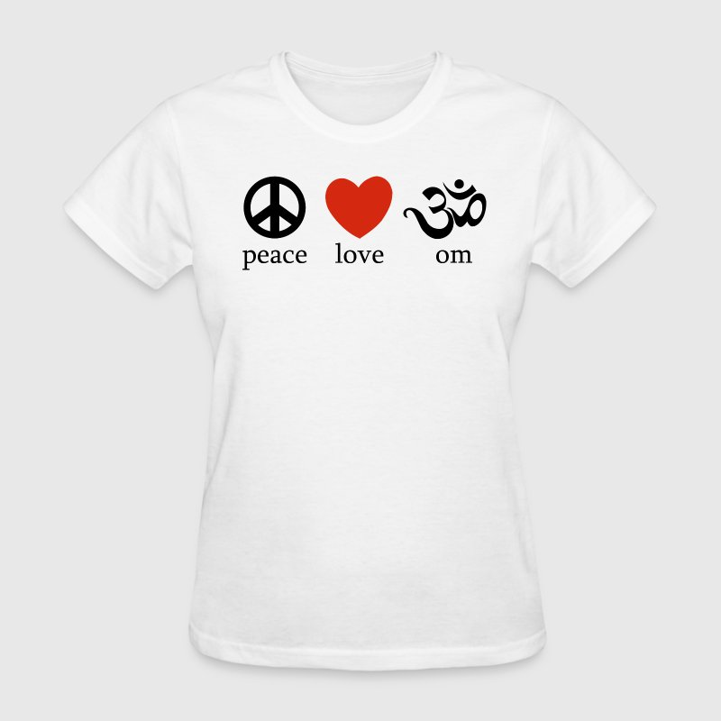 Peace Love Om T-Shirt - Women's T-Shirt