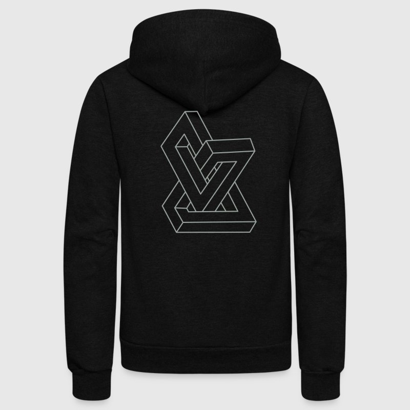 Optical illusion - Impossible figure Zip Hoodies/Jackets - Unisex Fleece Zip Hoodie by American Apparel